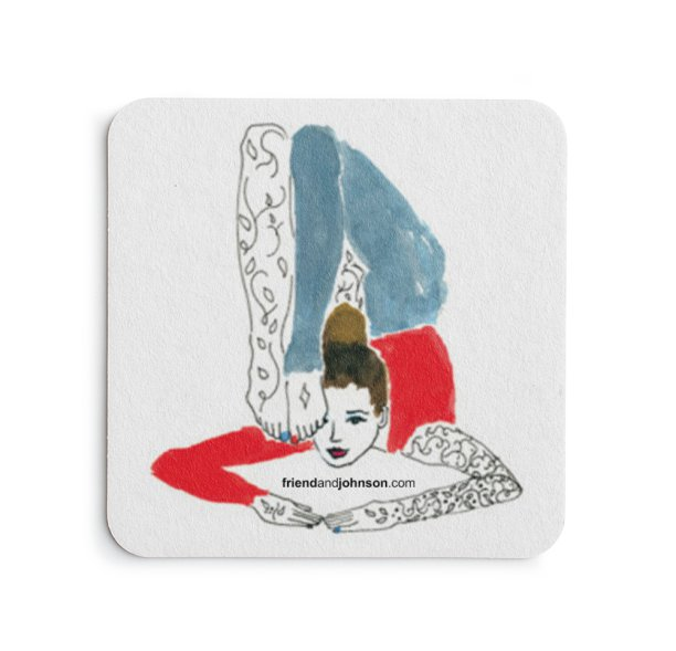 illustrator self promotion using coasters