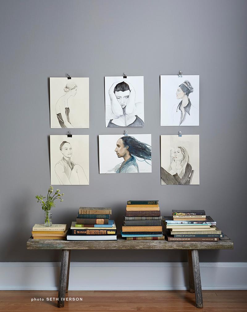 gallery of watercolor portraits, artist Coco Connolly